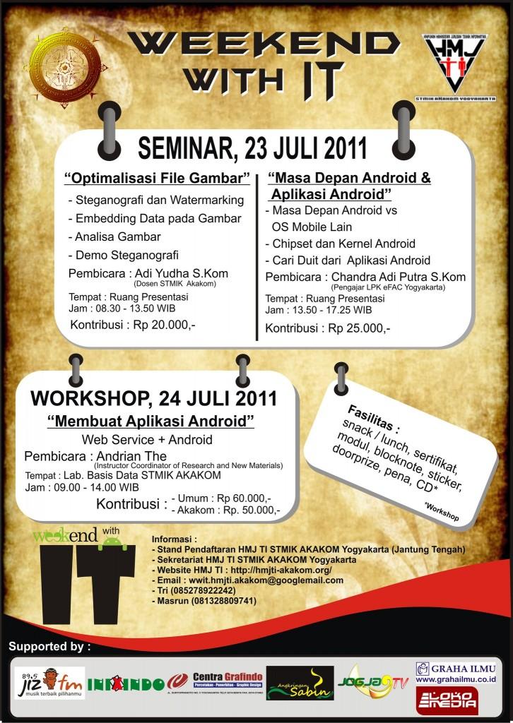 Poster  seminar Android