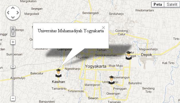 Peta dengan multiple marker dan multiple infoWindows