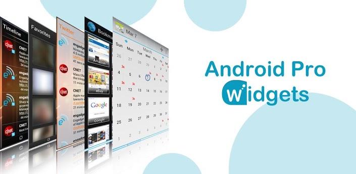 Android pro widget mempunyai berbagai macam widget didalamnya