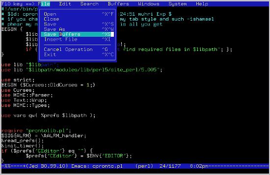 JED editor di Linux