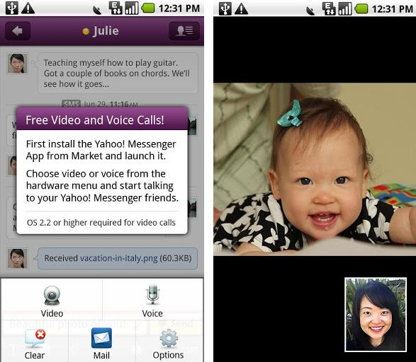 Yahoo Video Chat di Android
