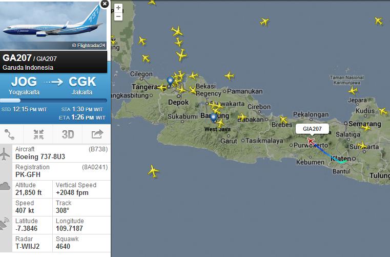 flightradar24 bisa memantau posisi realtime posisi pesawat