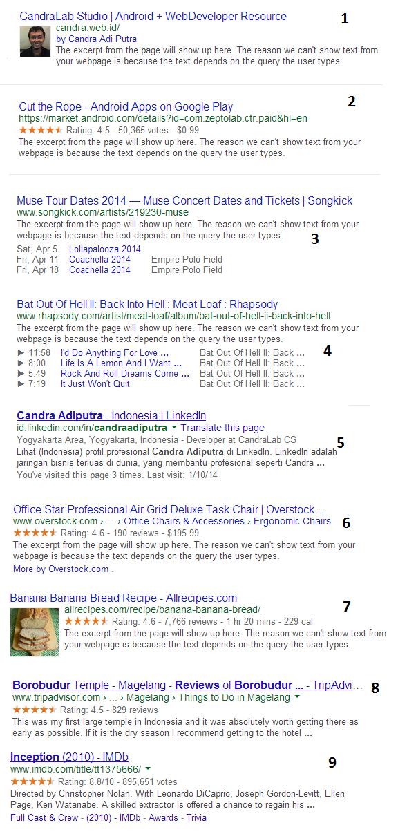 googlestruktur