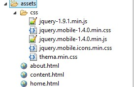Struktur JQM di Assets