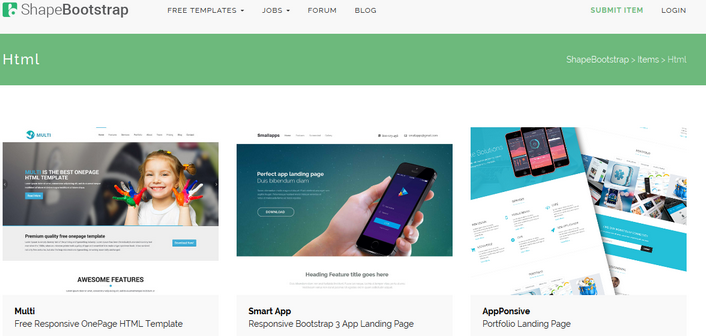 Download  Free HTML5 Bootstrap Theme Template