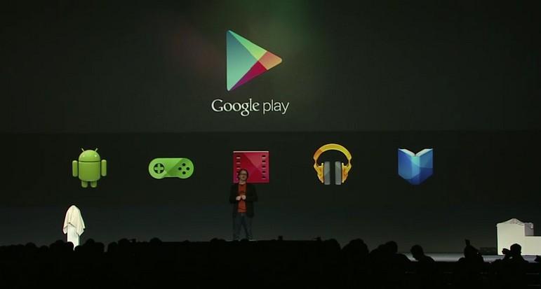 Pengumuman layanan lengkap di Google play