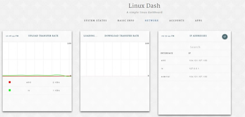 Dash - Monitoring server Linux berbasis Web